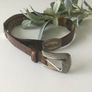 Accessories - FOSSIL leather boho belt